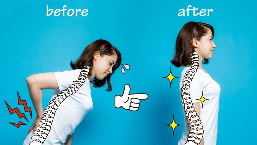 Good posture can reduce your back pain.