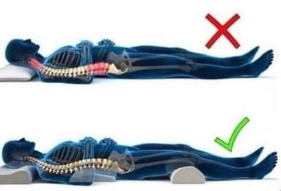 Sleeping position chiropractic backpain.