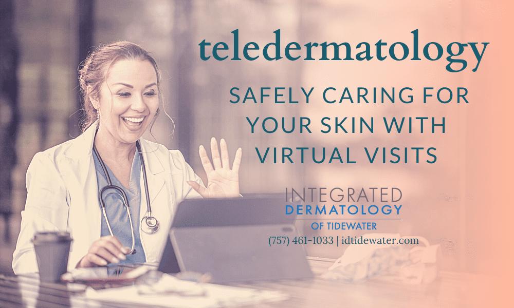 telemedicine dermatologist speaking to patient online