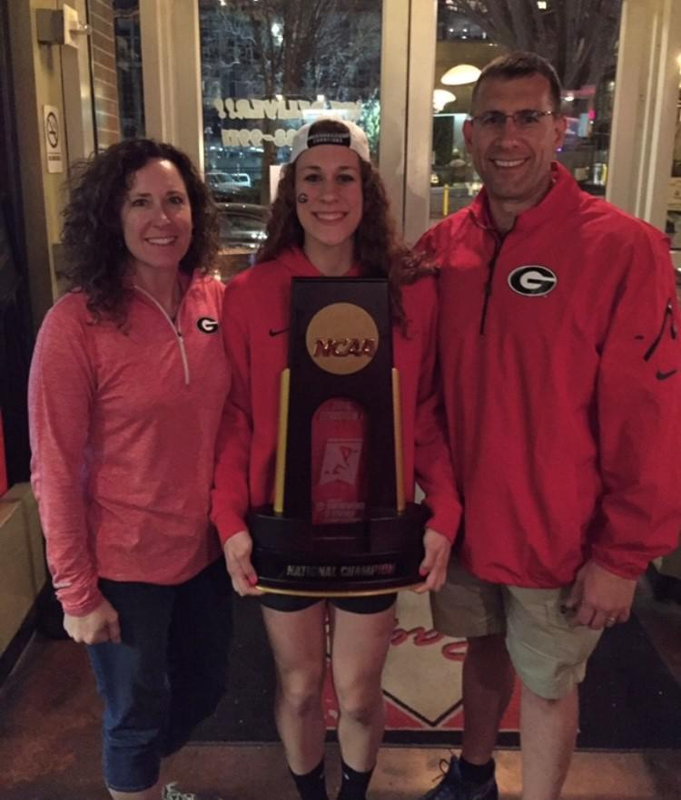 Dr. Raab and NCAA Champion Daughter