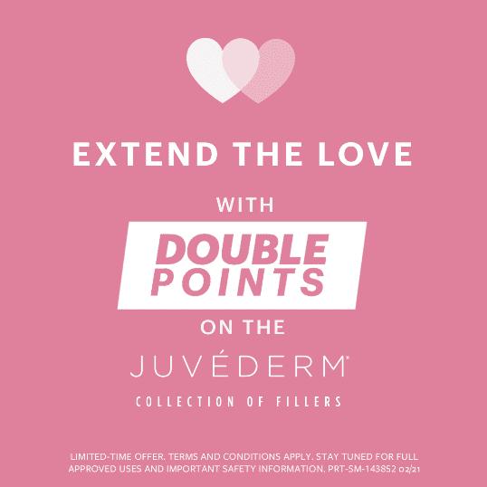 Earn Double Allē Points on JUVEDERM