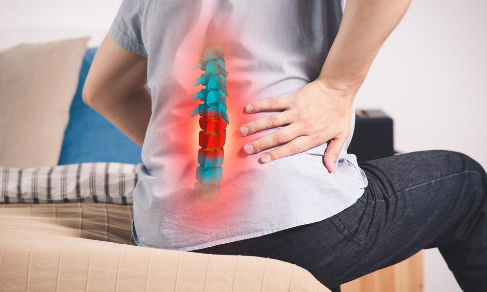 Lower back pain caused by disc herniation