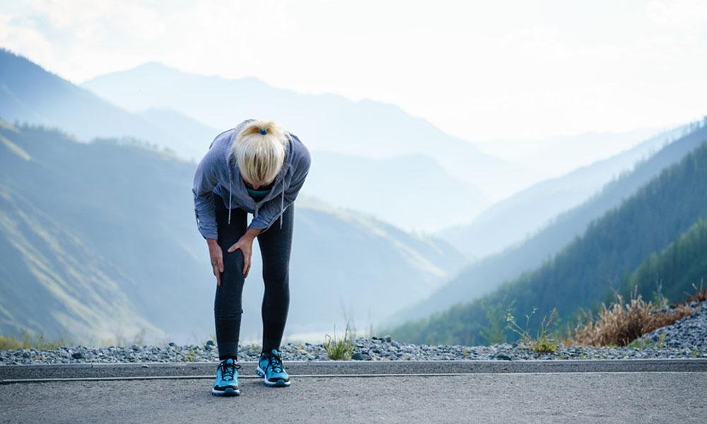 Runner with knee pain