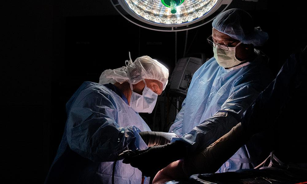 Orthopedic Surgeon Completing Arthroscopic Procedure