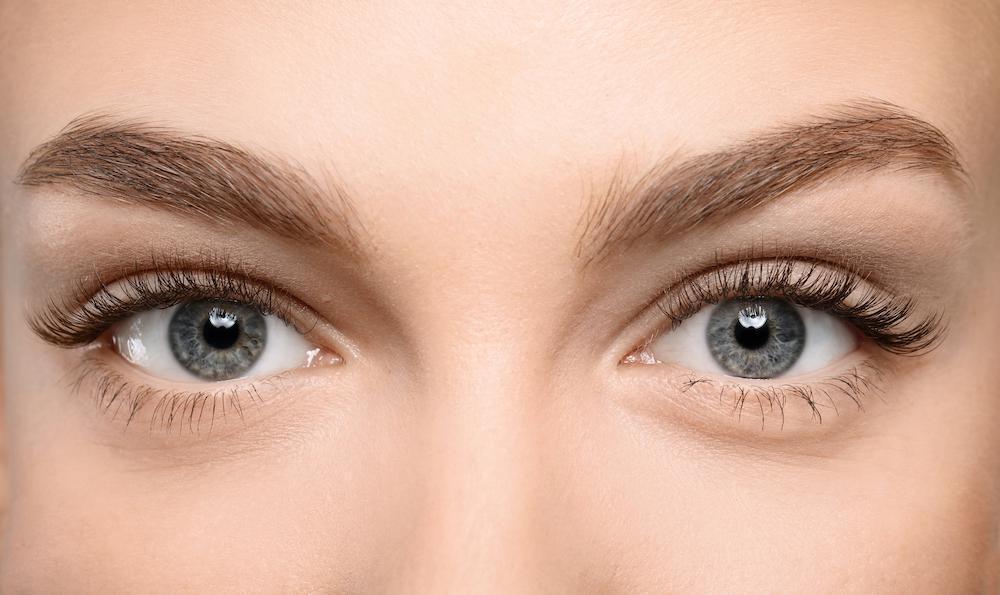 Woman's eyelids