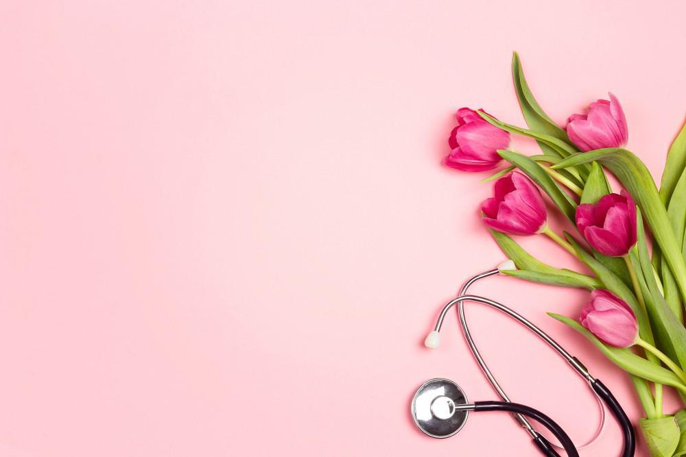 stethoscope with flowers