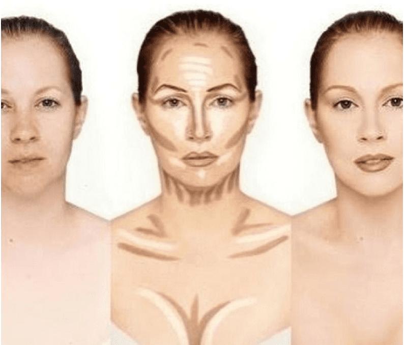 Facial and neck contour